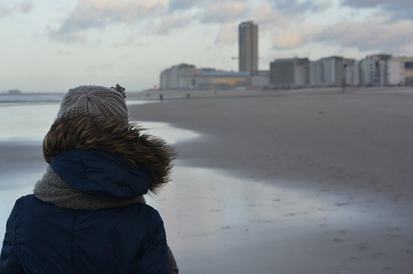 Strand Winter Windig